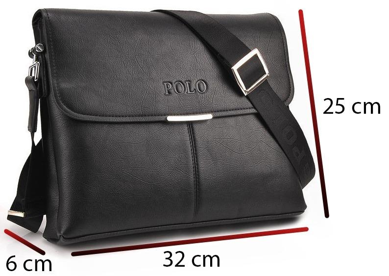Bolsa Tiracolo Masculina Polo Transversal Estilo Carteiro - R  179 ... 25d55b59f5b