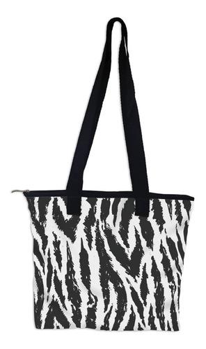 bolsa tiracolo neoprene revestida microfibra print zebra