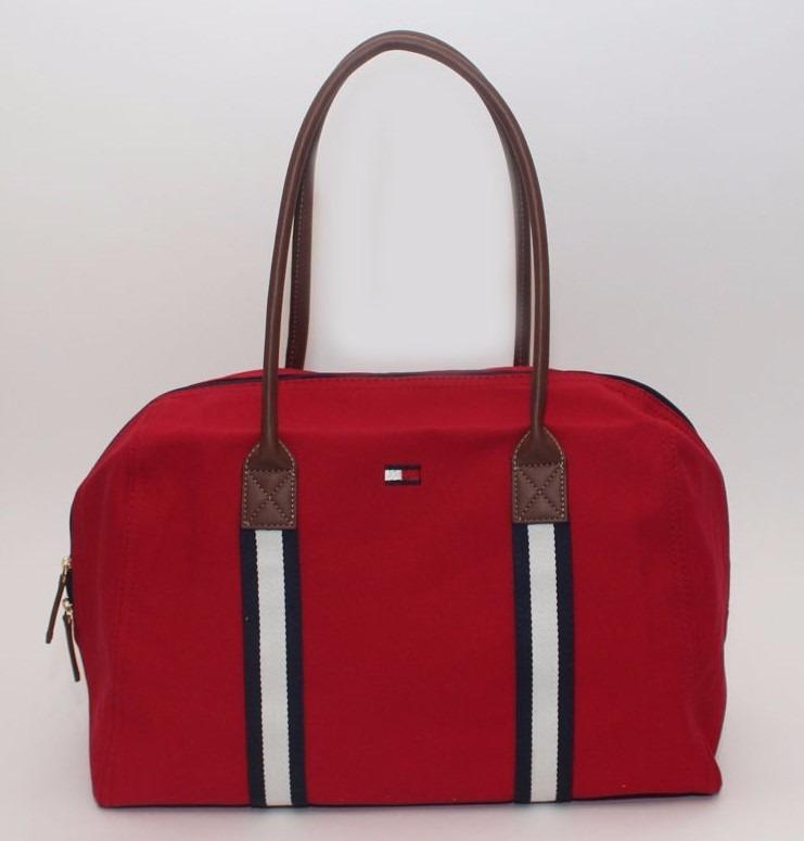 14ffc9b88 Bolsa Tommy Hilfiger Lona 100% Original Vermelha - R$ 399,00 em ...