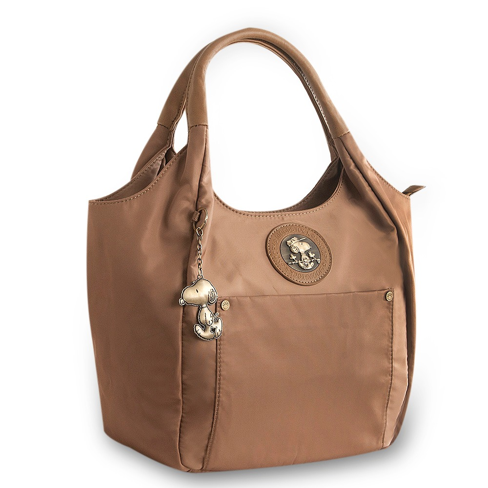 ca80a625d3a65 Bolsa Tote Bag Be Fancy Snoopy Sp6803 Taupe - R  124