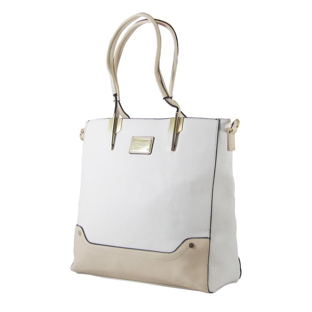Bolsa Feminina Adidas Branca : Bolsa tote feminina branca e creme ?ltima moda r