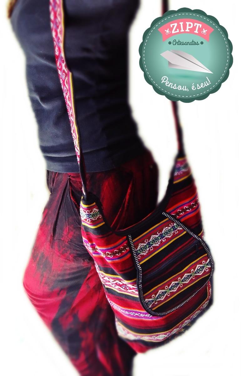 e7355436c bolsa transversal andina, peruana - vermelho rosa | feminina. Carregando  zoom.