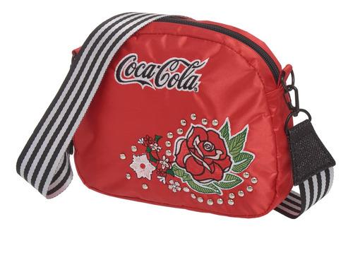 bolsa transversal coca cola vintage rose - 71187