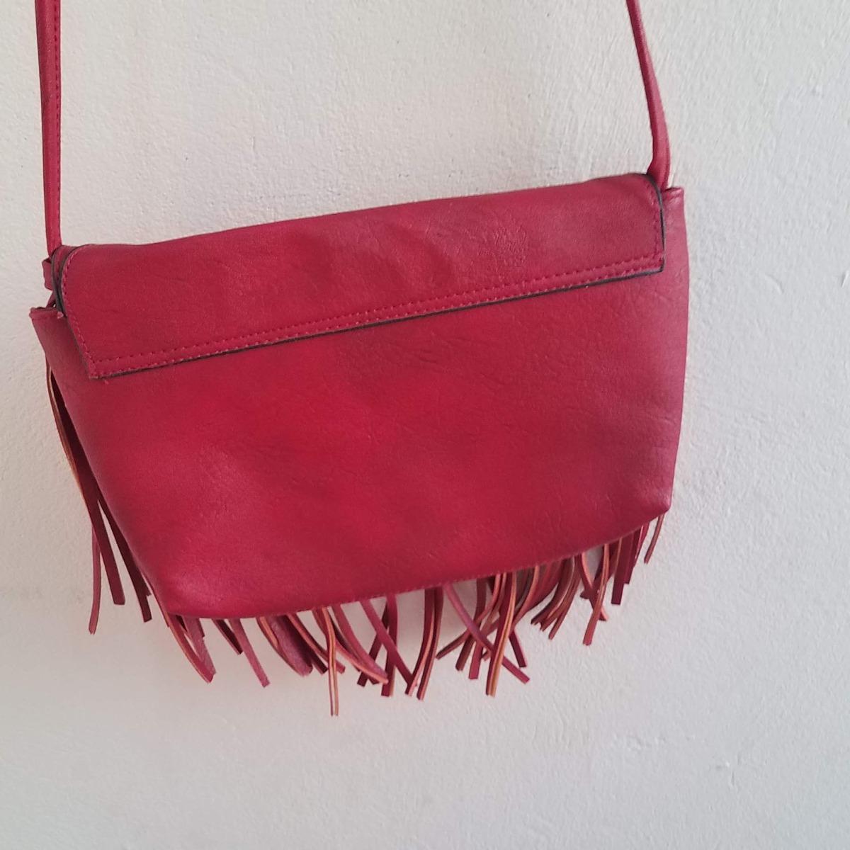 b00fd7054 bolsa transversal feminina com franja tam. pequena. couro. Carregando zoom.