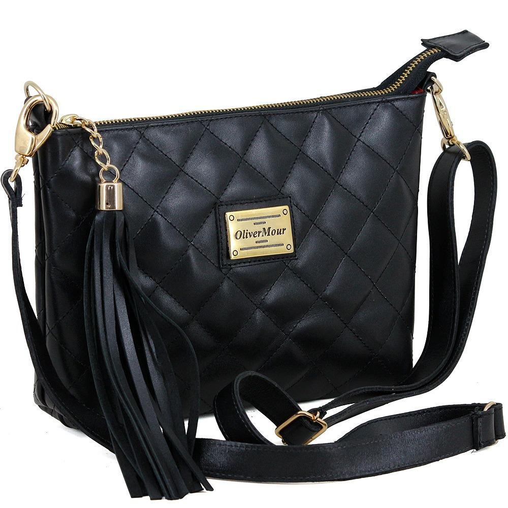 1ca8c7bc4f Bolsa Transversal Feminina Matelasse Couro Luxuosa - R$ 169,99 em ...