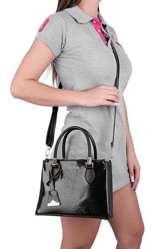 bolsa transversal lorena com carteira feminina promoção