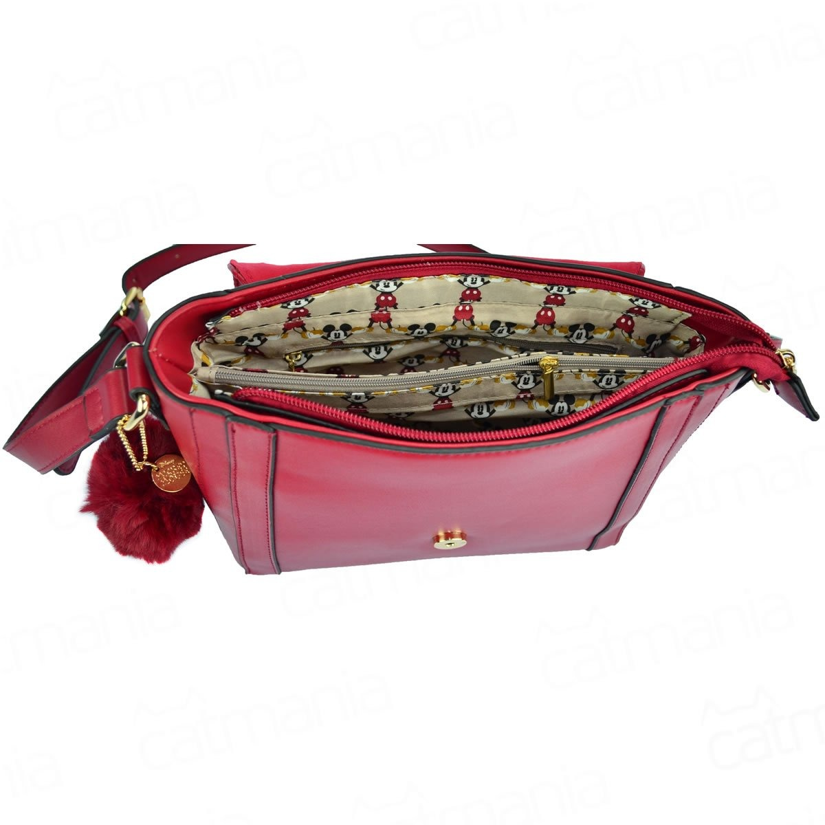 7a9485c96 Bolsa Transversal Mickey Head Pin Com Pompom - R$ 167,90 em Mercado ...