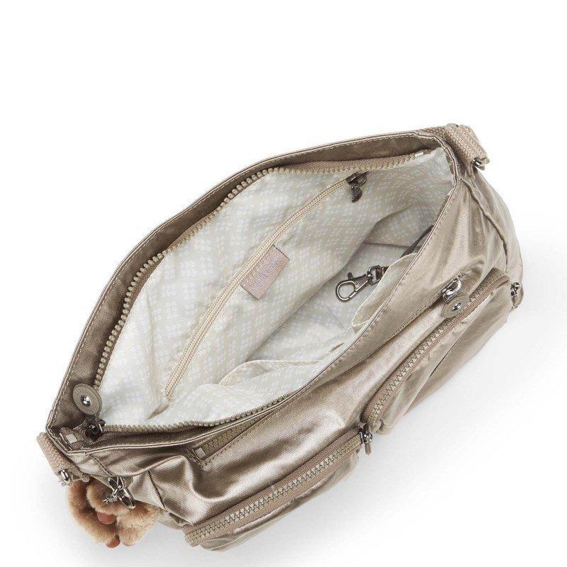 20a1dffeb bolsa transversal tasmo dourada metallic pewter kipling. Carregando zoom.