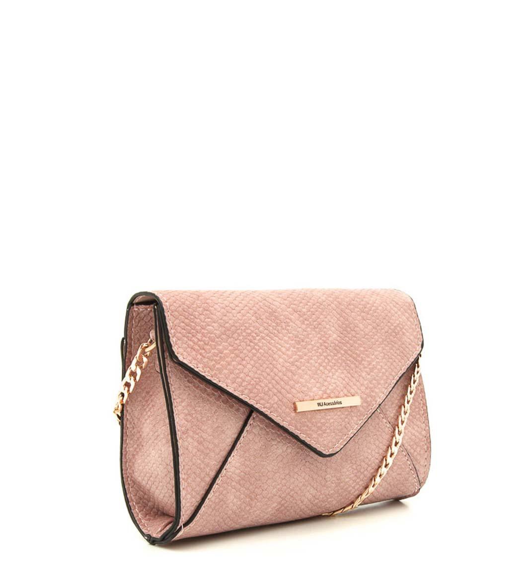 26d6f1400 Bolsa Transversal Wj Acessórios Rosa - R$ 106,72 em Mercado Livre