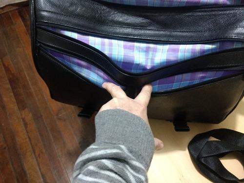 bolsa traseira para sissy-bar couro mala harley davidson
