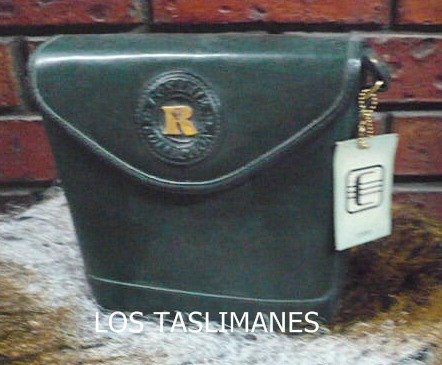 bolsa verde de piel collection rosanie