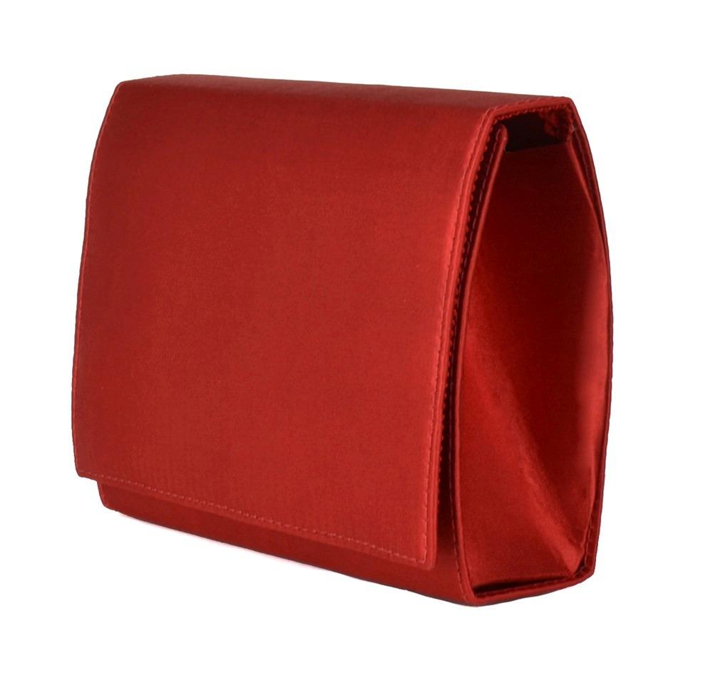 b19fe7d9e bolsa vermelha clutch de mão festa balada cetim pequena 1330. Carregando  zoom.
