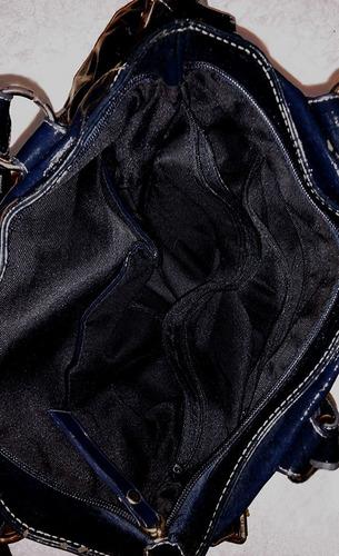 bolsa verniz azul-marinho
