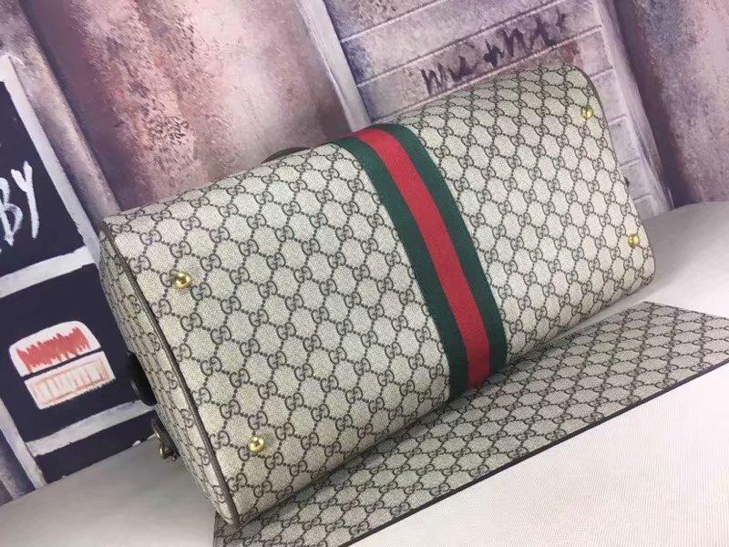 78be4d078 Increible Maleta Bolsa De Viaje Gucci Collage Linea Central ...