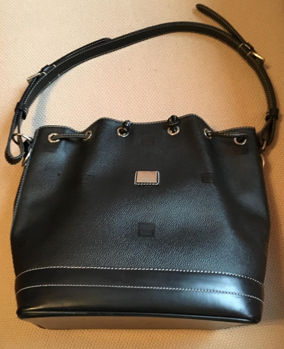 87b8bd93b5c bolsa victor hugo original couro preta estilo saco usada. Carregando zoom.