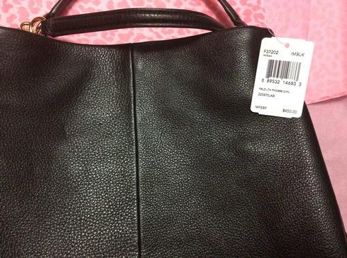bolsa y cartera coach de piel 100% original con etiquetas