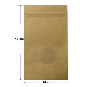 a83d21850 Bolsa Zip Lock (kraft) Biodegradable 50 Pz De 14x19 Cm