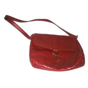 790bdc6358b Bolsa Color Roja De Cuero Vintage Marca Lauren Ralph Lauren
