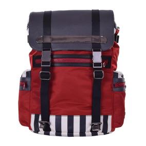 3f9a86eef8c2b Dolce   Gabbana Canvas E Couro Mochila Backpack Vermelho