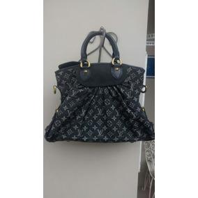 4fd4ad17f Bolsa Louis Vuitton Mahina Xxl Denim Black Jeans - Bolsas no Mercado ...