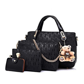 586f323f0dbf8 Bolsa Feminina Kit Conjunto 4 Peças Varias Cores Luxo Lindas