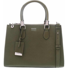 bf47452c51 Bolsa Schutz Mini Lorena - Bolsas de Couro Verde no Mercado Livre Brasil