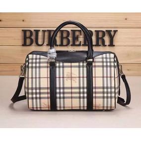 808b739d5 Increible Bolsa Burberry Dama Tipo Baul Clasica Correa Negra