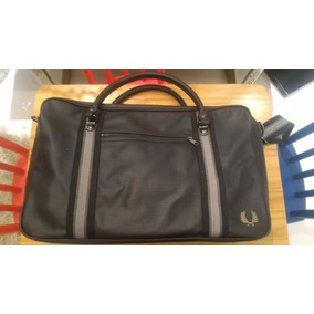 4c995ae334747 Fred Perry Bolsa Masculina Pique Texture Overnight Bag