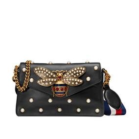 57870bee9 Bolsa Feminina Preta E Branca Femininas Gucci - Bolsas no Mercado ...