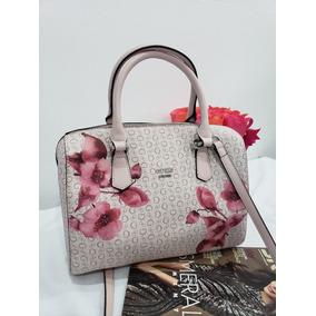 86769f799 Bolsa Para Dama Guess Rosa Beige Floreada Original Ashville