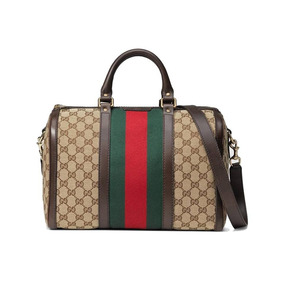 512801ddc Bolsa Gucci Guccissima Brown Canvas Boston Femininas - Bolsas no ...