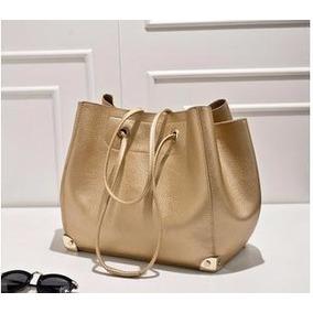 e7c6ac192 Bolsa Saco Ombro - Bolsas Femininas Dourado escuro no Mercado Livre Brasil
