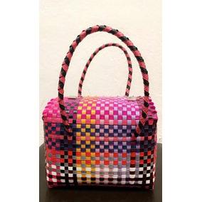 f79e54a39 Bolsa Plástica Artesanal Tipo Baúl Para Dama