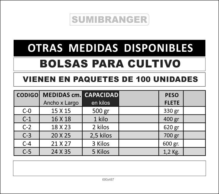 e354d05f1 Bolsas Agricola Cultivo Vivero Siembra 20x25cm 2,5 Kg 100und - Bs ...