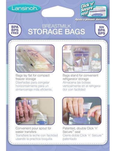 bolsas almacenamiento leche materna lansinoh | 25 unidades