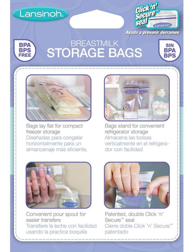 bolsas almacenamiento leche materna lansinoh | 50 unidades