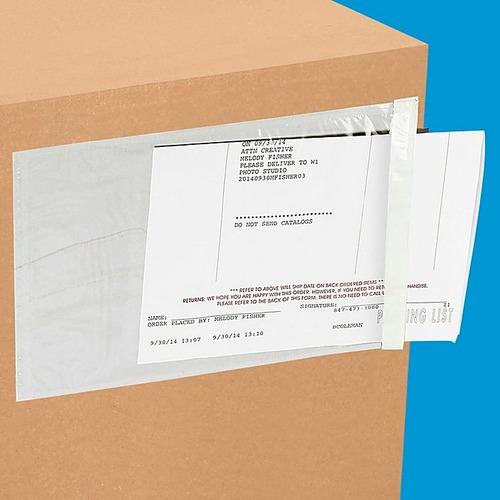bolsas canguro con adhesivo 4.5 x 5.5 in - 1000 portaguías