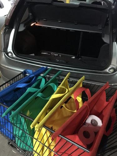 bolsas carro supermercado + térmica - pack x4