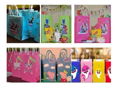 bolsas cotillon fiesta infantil piñata banderin mascaras de