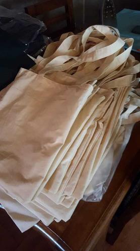 bolsas crea cruda  algodon para serigrafia 35 x 40 cms