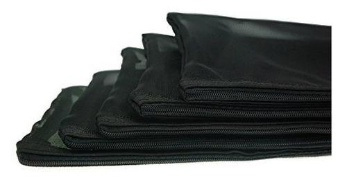 bolsas de almacenamiento de malla de bloqueo de cremallera n