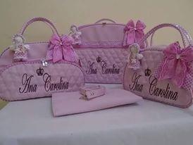 bolsas de bebê com nome bordado frete grátis