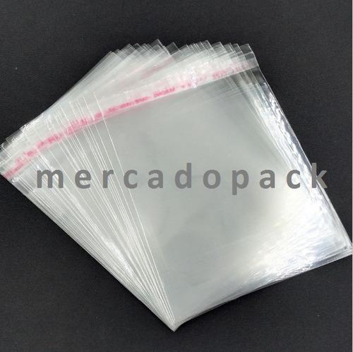 bolsas de celofán autoadhesivas (c/pega)tamaño 5x5.5cm xunid
