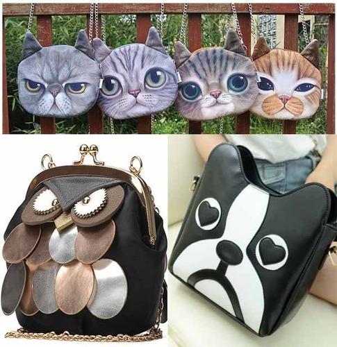 bolsas de gato, perro, buho, catrina fashion envio gratis