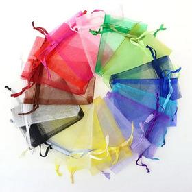 Bolsas De Organza 9 X 7 Cm 100 Unds. Var. De Colores. Oferta