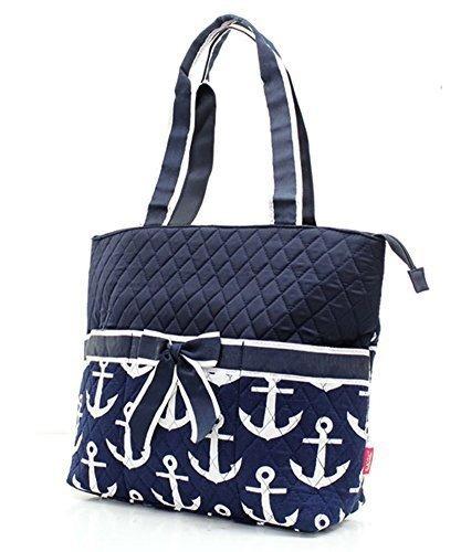 bolsas de pañalesarmada acolchado y negro ancla náutica d..