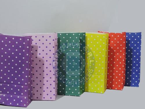 bolsas de papel a lunares x 10un.