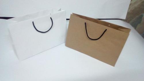 bolsas de papel a medida 30x20x10 pack x 100