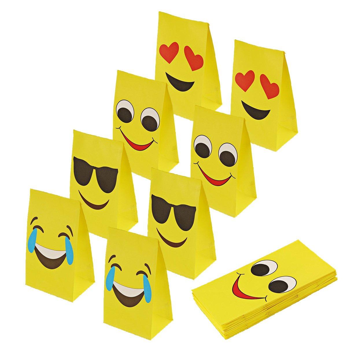 paquete De 4 Papel facial completa personalizada emoji Fiesta Bolsas