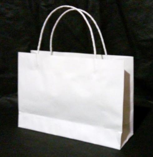 bolsas de papel bond blanca, 115 gramos. tamaño: 20x25x9